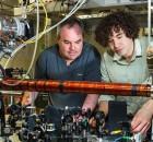 Quantum laser experiment